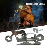 Chicken Roaster Beer Can Motorcycle BBQ Stainless Steel Rack with Glasses