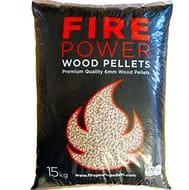 Firepower Wood Pellets 6mm EnplusA1 Biomass Pellets 15KG