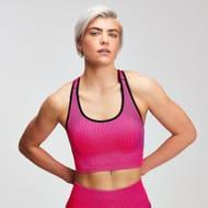MyProtein Women's Contrast Seamless Sports Bra - Super Pink