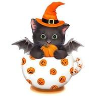 Cat Pumpkin 5D Diamond Painting Kit