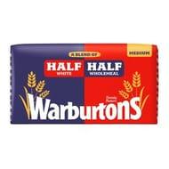 Warburtons Half & Half Medium 800g