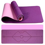 Deal Stack! Eco Friendly TPE Gym Mat with Alignment Lines