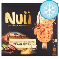 Nuii Caramel White Chocolate & Pecan Ice Cream 3 Pack 270Ml