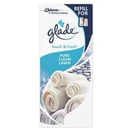 12 Pack Glade Touch & Fresh Toilet Spray Air Freshener 10ml Refill