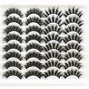 False Eyelashes Thick Fluffy 3D Mink Lashes, 16 Pairs - Only £4.49!