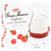 Bonne Maman Yoghurt with a Raspberry Layer 4 X 125g