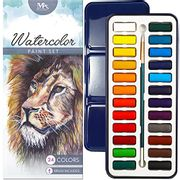 Watercolour Paint Essential Set 24 Vibrant Colours