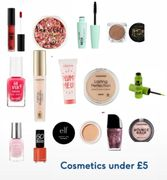 Under £5 Cosmetics / 3 for 2 Rimmel / Elf 25% off Collection etc.