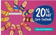 Special Offer! 20% off Cork Footbed Sandals at Moshulu