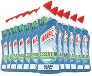 Harpic BIO Toilet Cleaner Gel 750 Ml - OCEAN FRESH, Pack of 12