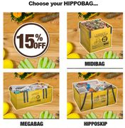 15% Discount on HIPPOBAG & Collection Packages at Hippowaste