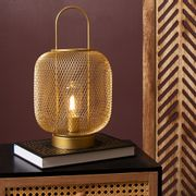 Cheap Home Collections Gold Mesh LED Lantern - Only £7.99!