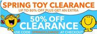 An Extra 50% off Already Reduced Toys