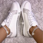 Silver Crystal Twinkle Trim Trainers
