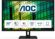 *SAVE over £60* AOC Q32E2N - 32 Inch QHD Monitor, 75Hz, 4ms, IPS, Speakers