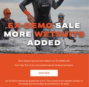 EX-DEMO SALE of Wetsuits save up to 70%