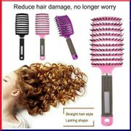 Detangling Nylon & Bristle Hairbrush Black or Pink
