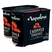 Napolina Chopped Tomatoes in a Rich Tomato Juice(4x400g)