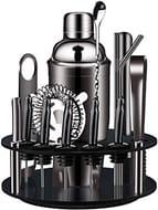 X-Cosrack Bartender Kit: 18-Piece Matte Black Cocktail Shaker Set - Only £39.52!