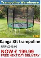 Kanga Hi-Power Green 8ft Trampoline Package
