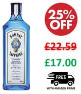 Bombay Sapphire London Dry Gin 70cl ***4.8 STARS***