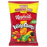 Maynards Bassetts Wine Gums Giant Sweets - BIG 1 Kg Bag - Free Prime Delivery