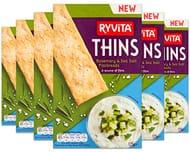 Ryvita Thins Rosemary & Sea Salt Flatbreads, 125g (Pack of 6) Price Glitch