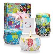 Teplom Soy Wax Portable Scented Candles Gift Set, 4 Pack Floral - Only £9.49!