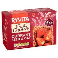 Ryvita Fruit Crunch - Currants, Seeds & Oats Crispbread, 200g