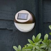3 X Solar Powered Fence Lights - Bronze or Silver