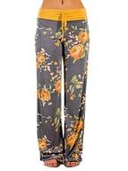 Famulily Women's Casual Floral Wide Leg Pajama Lounge Pants
