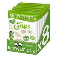 Kiddylicious Apple Crisps (Pack of 8)