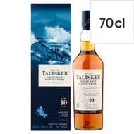 Talisker 10Yr Old Malt Whisky 70Cl Bottle