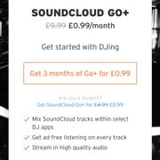 Soundcloud Go+ for 99p for 3 Months!