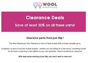 The Wool Warehouse Yarn Clearance -save at Least 50% on Various Yarns