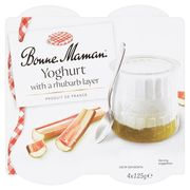 Bonne Maman Yoghurt with a Rhubarb Layer 4 X 125g