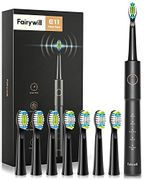 Deal Stack! Fairywill Sonic Electric Toothbrush with 8 Brush Heads