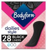 Bodyform Black Panty Liners Normal X28(2 Packs for £2)