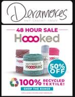50% off Hooked Yarn