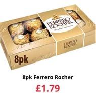8pk Ferrero Richer for £1.79