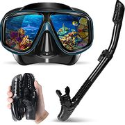 Yerloa Snorkel Anti-Fog Scuba Diving Mask Set for Adults - Only £7.20!
