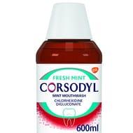 Corsodyl Mouthwash Mint, Gum Disease & Bleeding Gum Treatment Mouthwash, 600 Ml