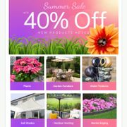 Up to 40% off Sumer Sale