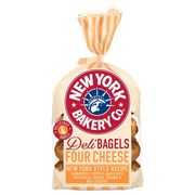 New York Bakery Co Cheese Deli Bagels, 4 Pack - Only £1!
