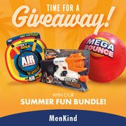Win a Mega Bounce Ball, a Nerf Super Soaker and an Air Square Flying Disk!