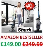 PRICE DROP! SAVE £100. Shark Upright Vacuum Cleaner, Lift-Away