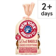 New York Bakery Bagel Loaded Everything 4Pack