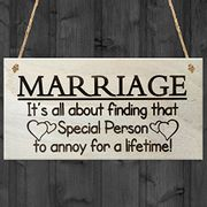 Humorous Marriage Plaque / Alternative Wedding /Anniversary Gift
