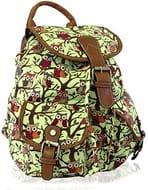 KukuBird Owl Print Twin Pocket Backpack