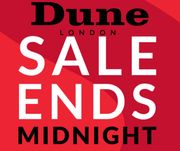 Dune Up To 70% Off Sale - Hurry Ends Midnight Tonight!